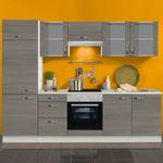 Küchenzeile TOLEDO - Vario 3.2 - Küche mit E-Geräten - Breite 270 cm - Pinie