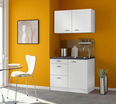 Singleküche GRANADA - mit Glaskeramik-Kochfeld - Breite 100 cm - Weiß