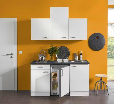 Singleküche GRANADA - Vario 2 - mit Elektro-Kochfeld - Breite 150 cm - Weiß