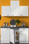 Singleküche GRANADA - Vario 2 - mit Glaskeramik-Kochfeld - Breite 150 cm - Weiß