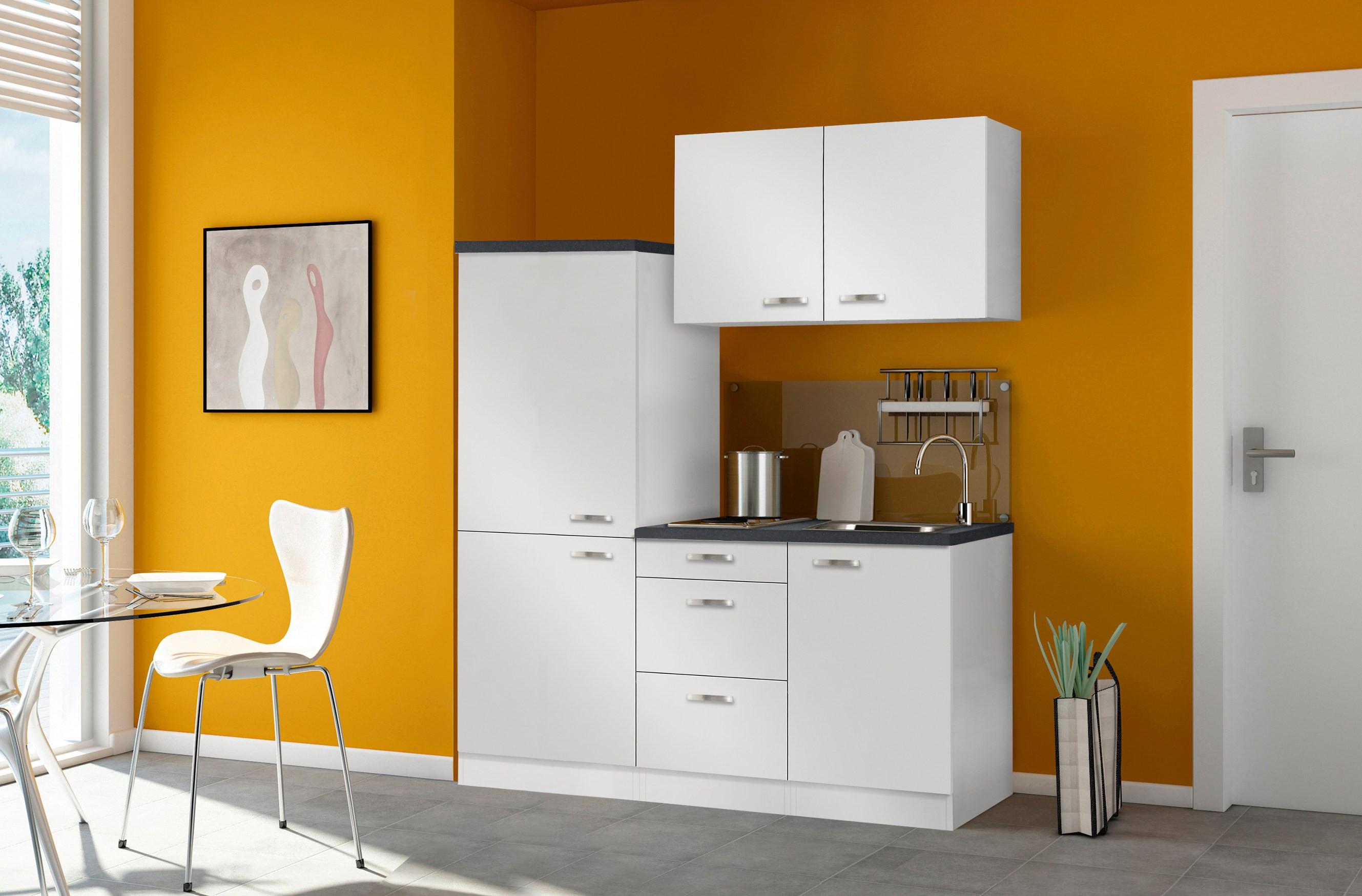 singlek che granada mit elektro kochfeld breite 160 cm wei k che singlek chen. Black Bedroom Furniture Sets. Home Design Ideas