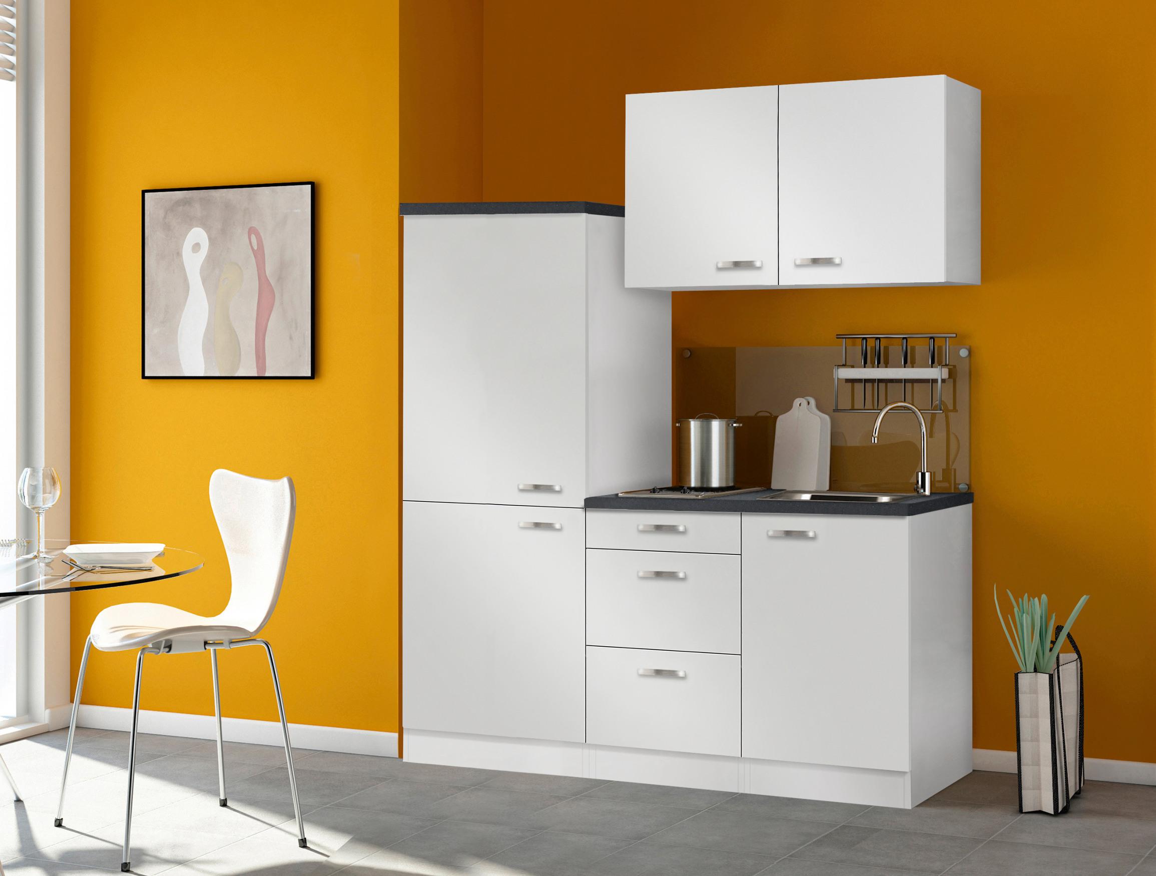 singlek che granada mit glaskeramik kochfeld breite 160 cm wei k che singlek chen. Black Bedroom Furniture Sets. Home Design Ideas