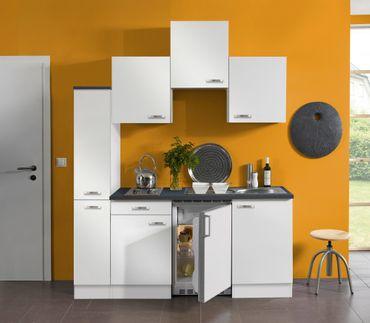 Singleküche GRANADA - Vario 1 - mit Elektro-Kochfeld - Breite 180 cm - Weiß