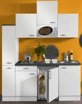 Singleküche GRANADA - Vario 1 - mit Mikrowelle - Breite 180 cm - Weiß