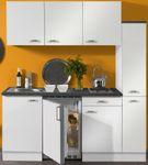 Singleküche GRANADA - mit Glaskeramik-Kochfeld - 9-teilig - Breite 180 cm - Weiß