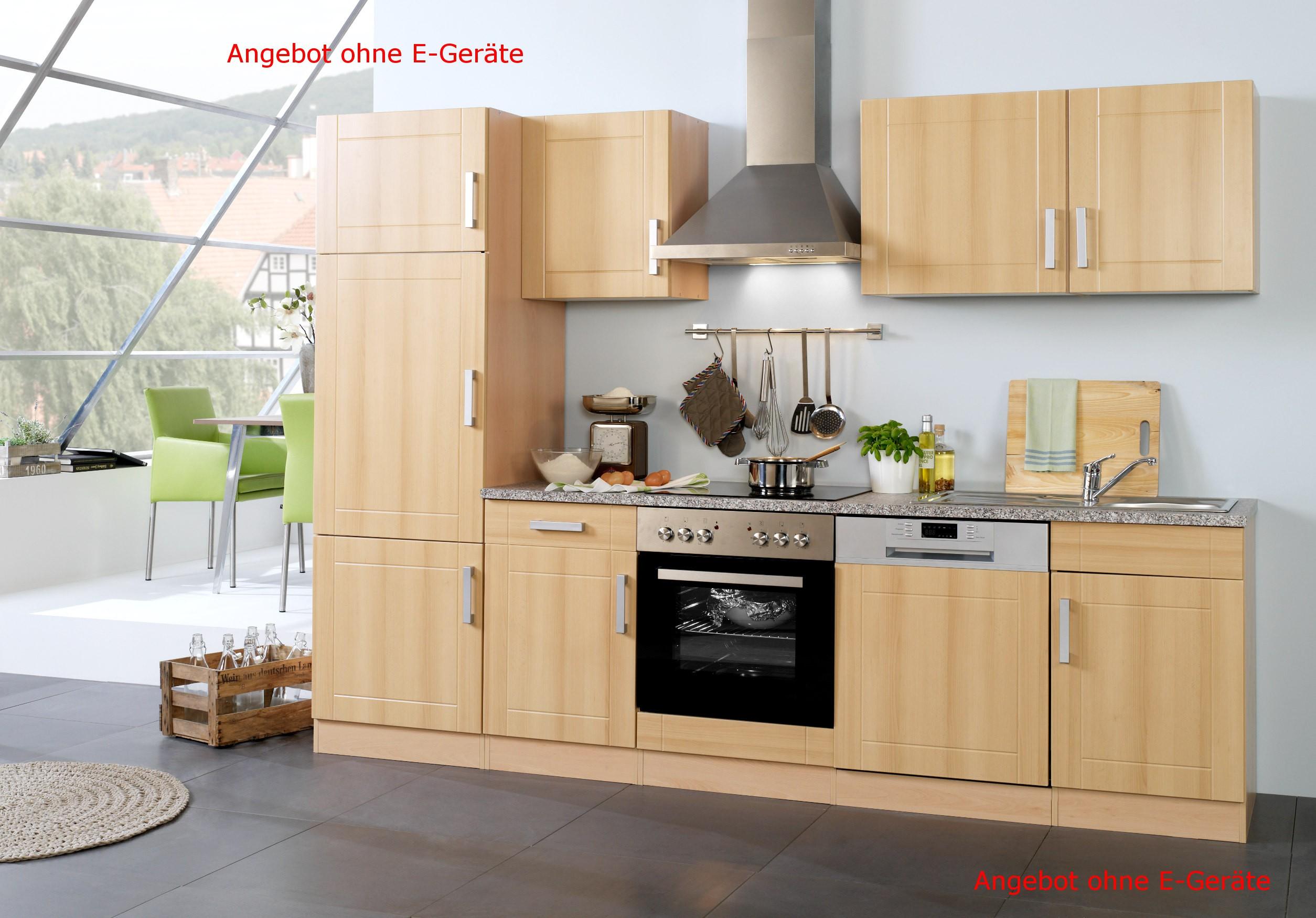 Küchenzeile VAREL - Küchen-Leerblock - Breite 280 cm - Buche Küche ...