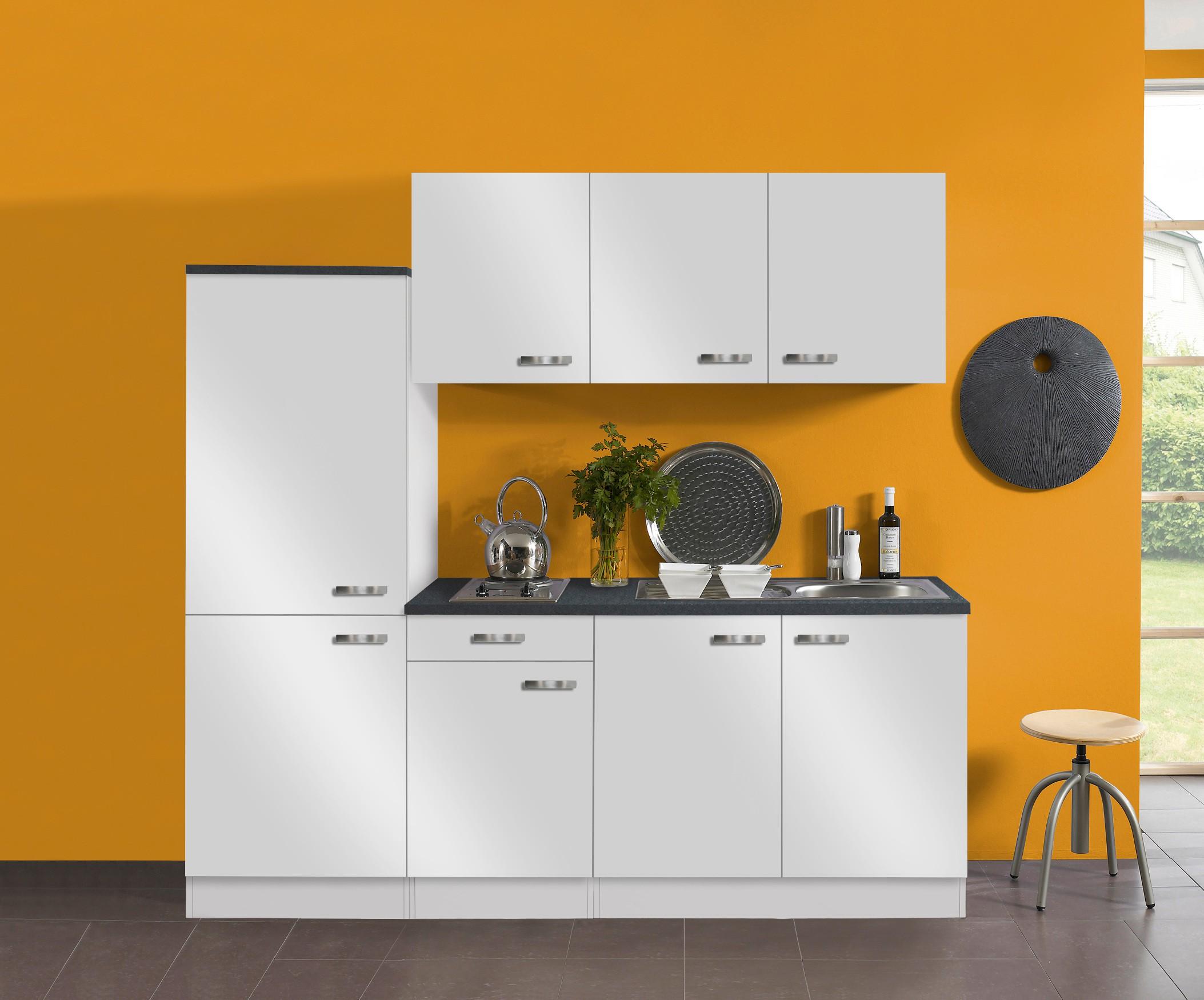 Miniküche Mit Kühlschrank Spüle Rechts : Singleküche granada vario 2 elektro 9 teilig breite 210 cm