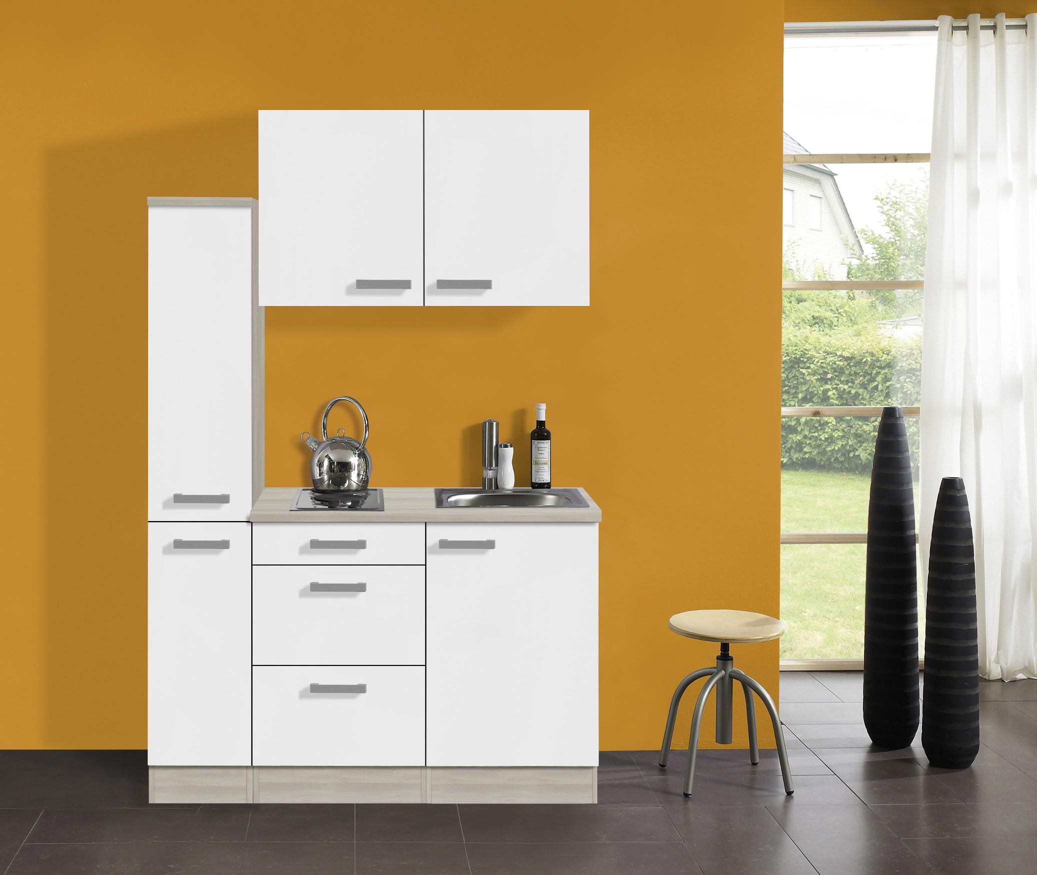 singlek che barcelona mit elektro kochfeld breite 130 cm wei k che singlek chen. Black Bedroom Furniture Sets. Home Design Ideas