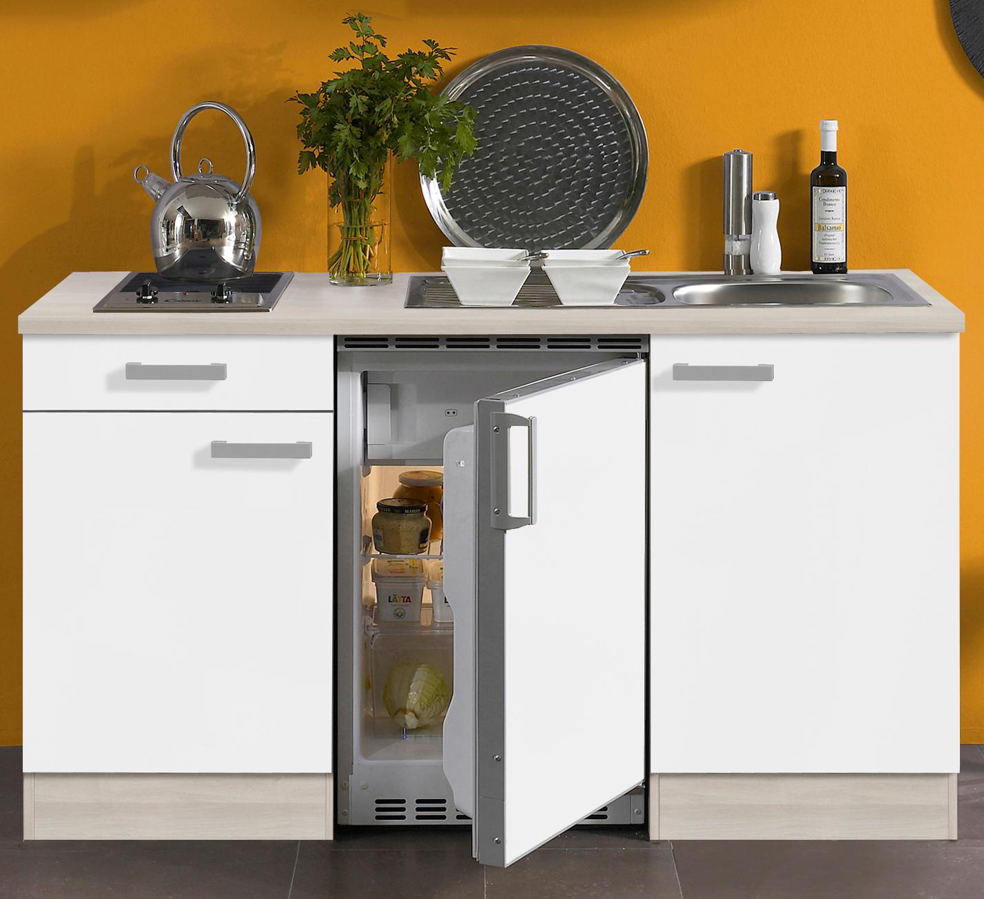 singlek che barcelona vario 1 mit glaskeramikkochfeld breite 150 cm wei k che singlek chen. Black Bedroom Furniture Sets. Home Design Ideas