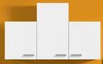 Singleküche BARCELONA - Vario 2 - mit Glaskeramikkochfeld - Breite 150 cm - Weiß