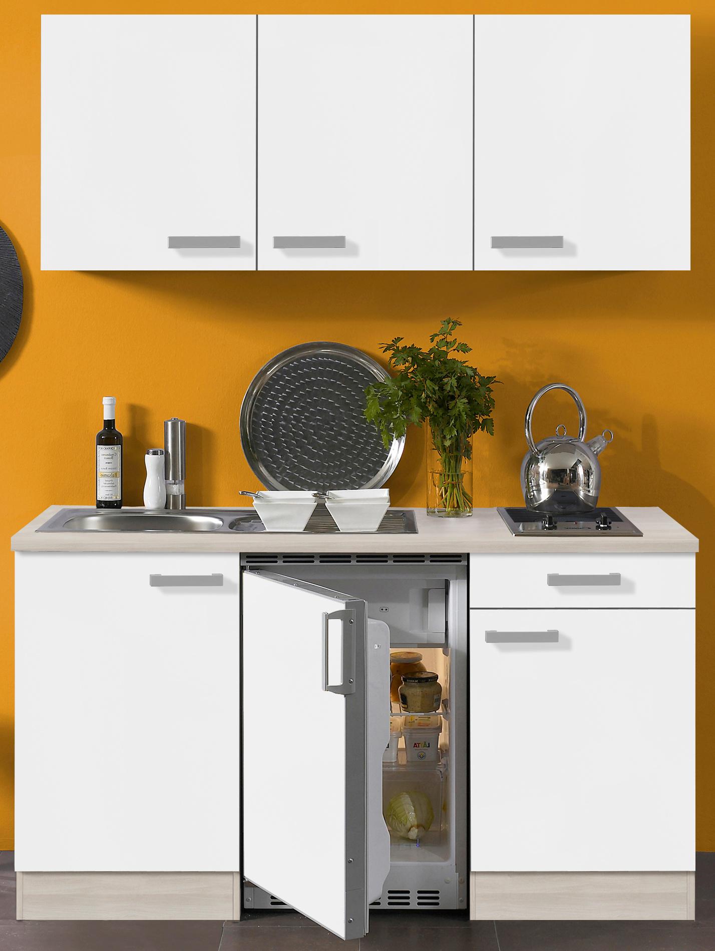 singlek che barcelona glaskeramik kochfeld 8 teilig breite 150 cm wei k che singlek chen. Black Bedroom Furniture Sets. Home Design Ideas