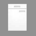 Singleküche BARCELONA - Glaskeramik-Kochfeld - 7-teilig - Breite 150 cm - Weiß