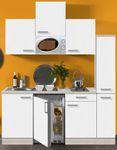 Singleküche BARCELONA - Vario 1 - mit Mikrowelle - Breite 180 cm - Weiß