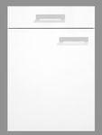 Singleküche BARCELONA - Vario 2 - Glaskeramik-Kochfeld - Breite 180 cm - Weiß