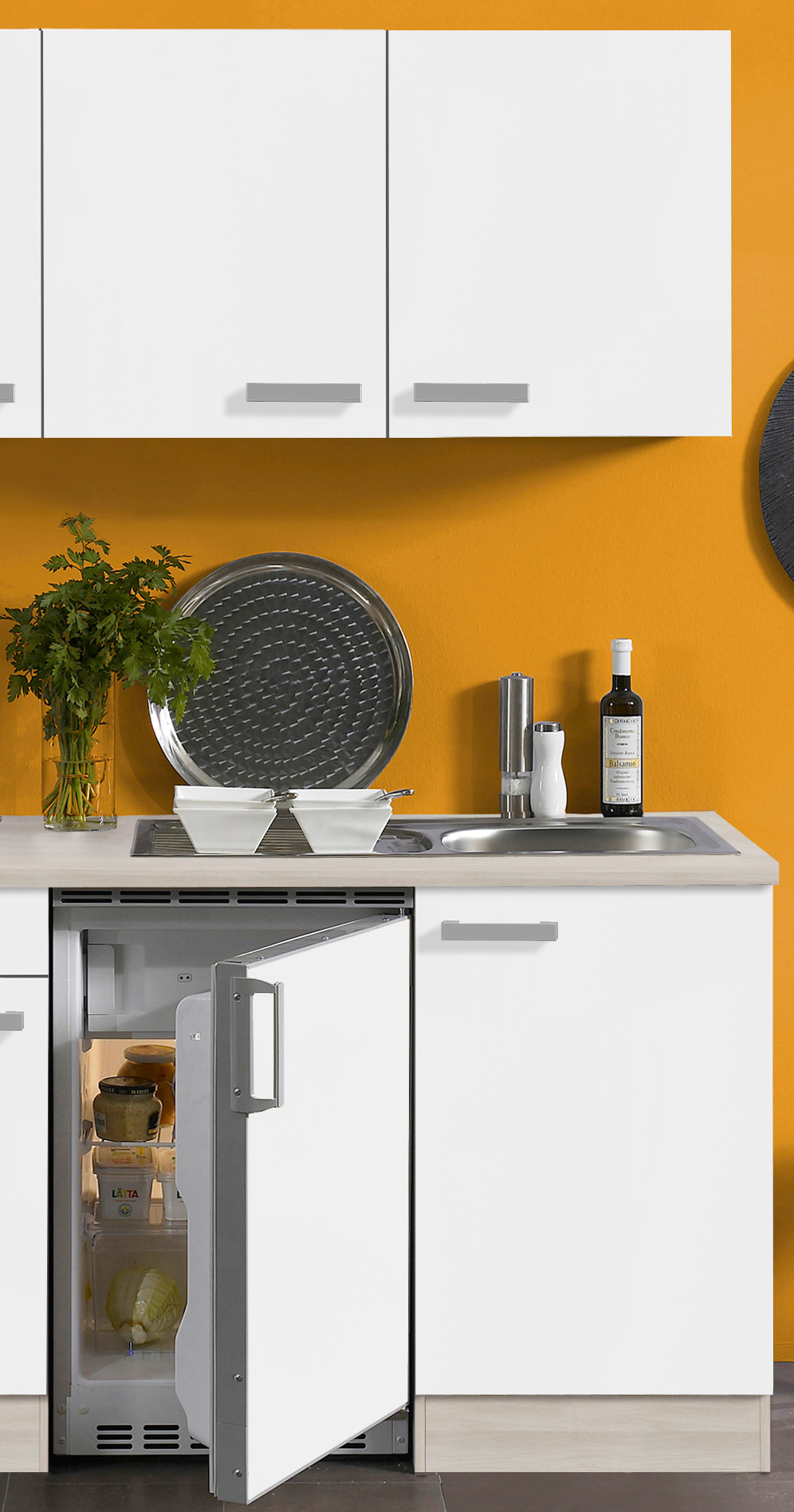 singlek che barcelona glaskeramik kochfeld 9 teilig breite 180 cm wei k che singlek chen. Black Bedroom Furniture Sets. Home Design Ideas