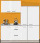 Singleküche BARCELONA - mit Glaskeramik-Kochfeld - Breite 190 cm - Weiß