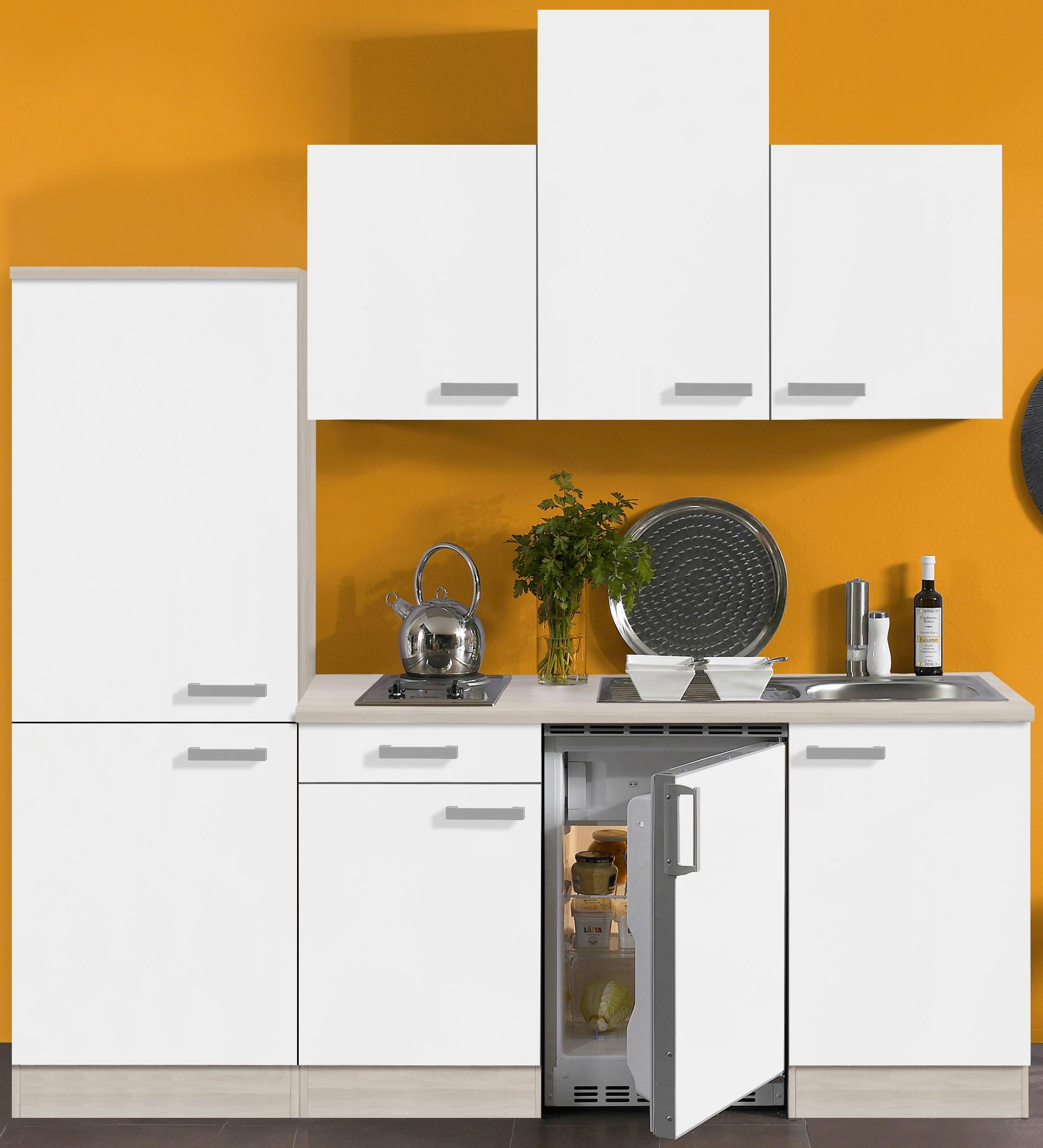 singlek che barcelona vario 2 mit elektro kochfeld breite 210 cm wei k che singlek chen. Black Bedroom Furniture Sets. Home Design Ideas