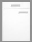 Singleküche BARCELONA - Vario 2 - Glaskeramik-Kochfeld - Breite 210 cm - Weiß