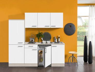 Singleküche BARCELONA - Vario 1 - Elektro - 9-teilig - Breite 210 cm - Weiß