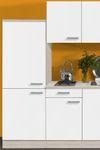 Singleküche BARCELONA - Vario 2 - Glaskeramik - 9-teilig - Breite 210 cm - Weiß