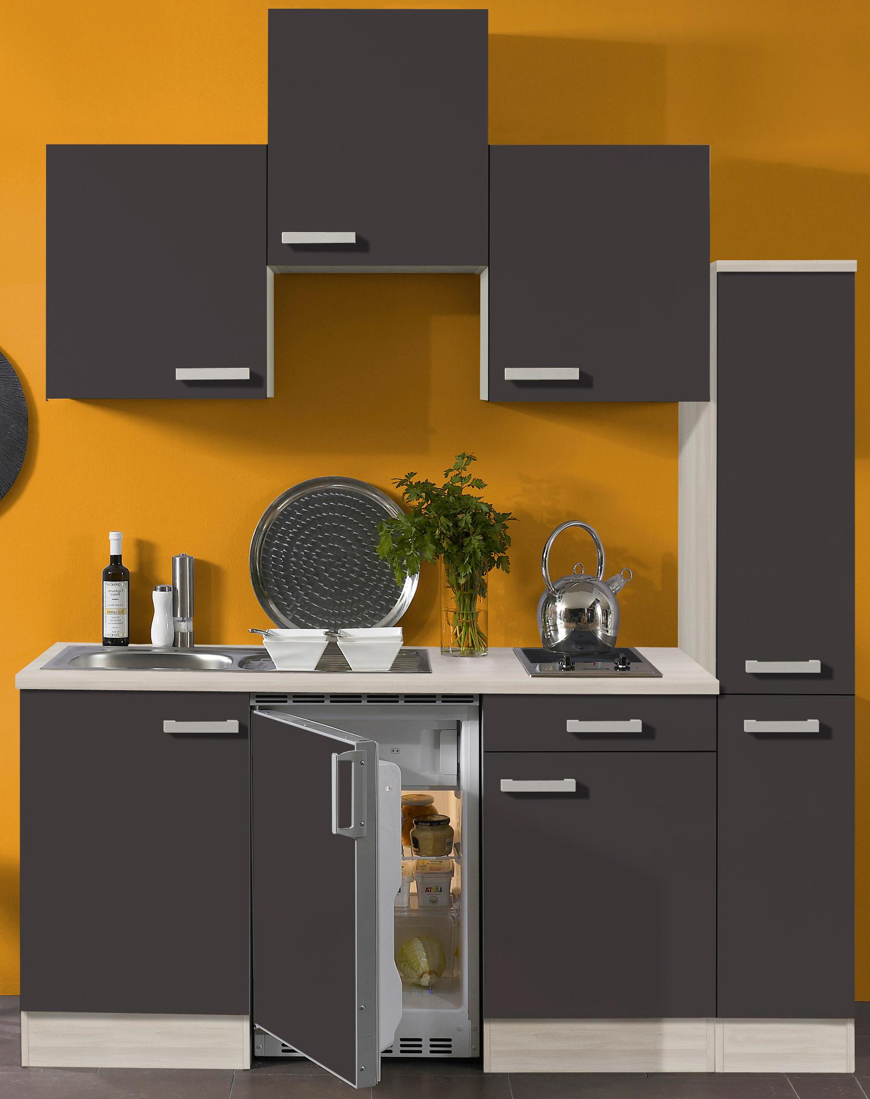 singlek che barcelona vario 1 glaskeramik kochfeld breite 180 cm grau k che singlek chen. Black Bedroom Furniture Sets. Home Design Ideas