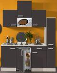 Singleküche BARCELONA - Vario 1 - mit Mikrowelle - Breite 180 cm - Grau