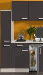 Singleküche BARCELONA - Glaskeramik-Kochfeld - 9-teilig - Breite 180 cm - Grau