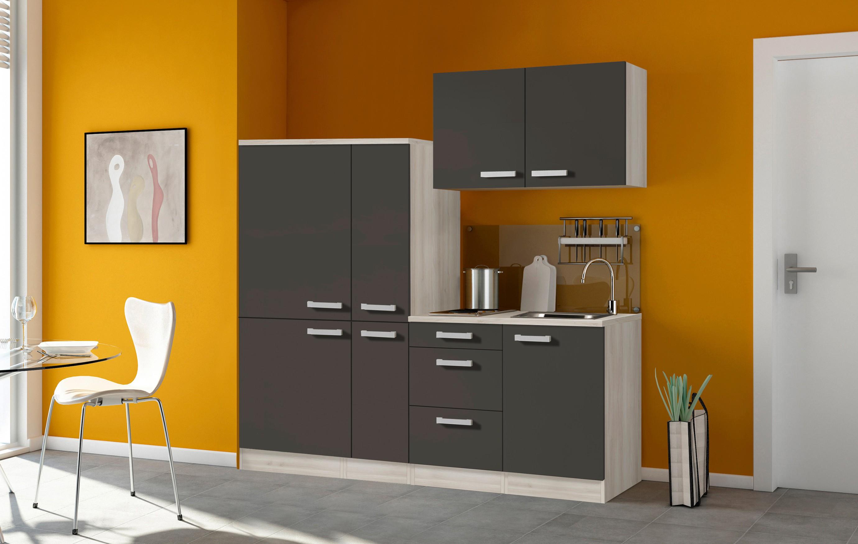 Miniküche Mit Kühlschrank 90 Cm : Singleküche barcelona mit elektro kochfeld breite cm