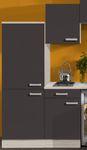 Singleküche BARCELONA - Vario 1 - Glaskeramik-Kochfeld - Breite 210 cm - Grau