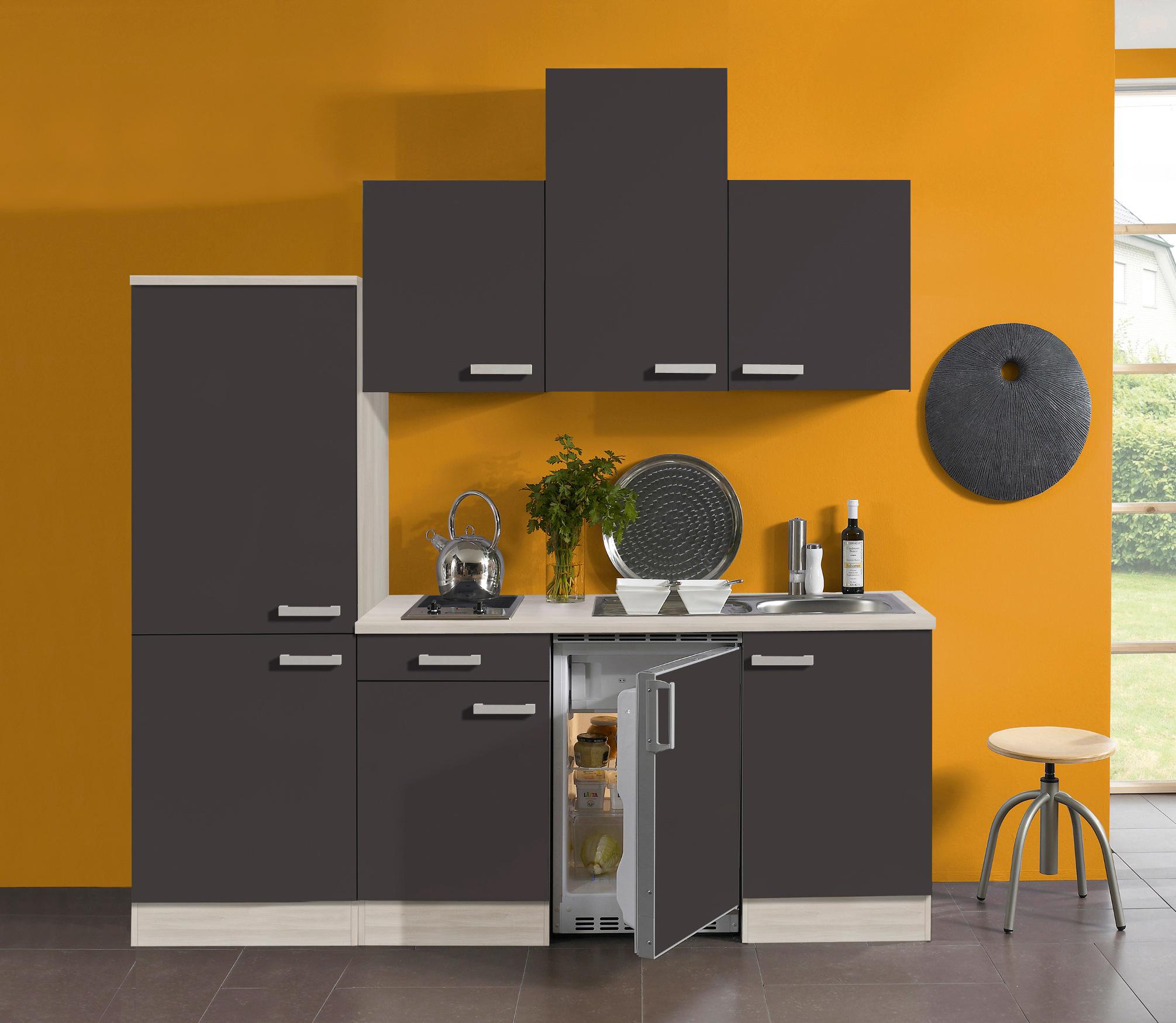singlek che barcelona vario 2 glaskeramik kochfeld breite 210 cm grau k che singlek chen. Black Bedroom Furniture Sets. Home Design Ideas