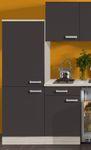 Singleküche BARCELONA - Vario 1 - Glaskeramik - 9-teilig - Breite 210 cm - Grau