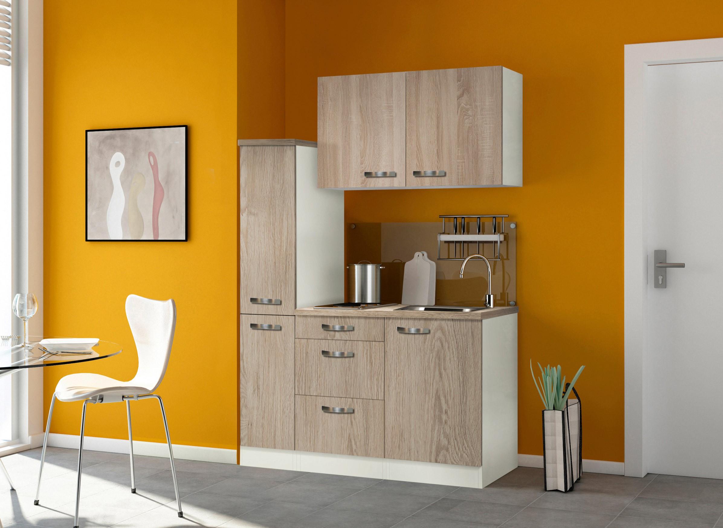 singlek che toledo mit elektro kochfeld breite 130 cm eiche s gerau k che singlek chen. Black Bedroom Furniture Sets. Home Design Ideas