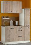Singleküche TOLEDO - mit Glaskeramik-Kochfeld - Breite 130 cm - Eiche Sägerau