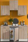 Singleküche TOLEDO - Vario 1 - mit Glaskeramikkochfeld - Breite 150 cm - Eiche
