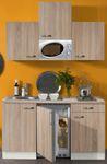 Singleküche TOLEDO - Vario 1 - mit Mikrowelle - Breite 150 cm - Eiche Sägerau