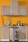 Singleküche TOLEDO - Vario 2 - mit Glaskeramikkochfeld - Breite 150 cm - Eiche