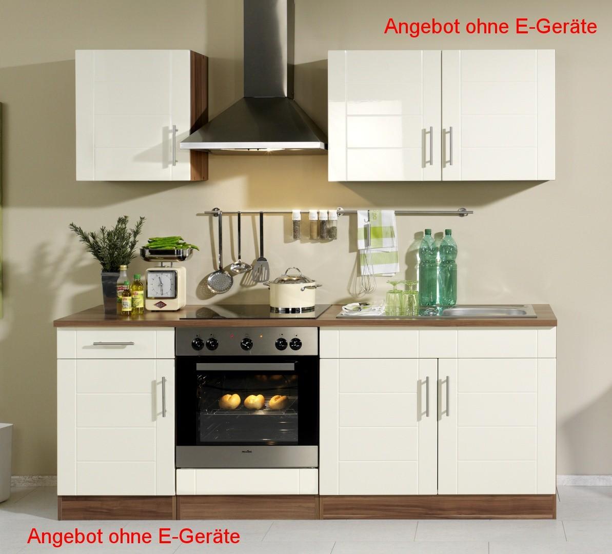 Küchenzeile NEVADA - Küchen-Leerblock - Breite 210 cm - Hochglanz ...