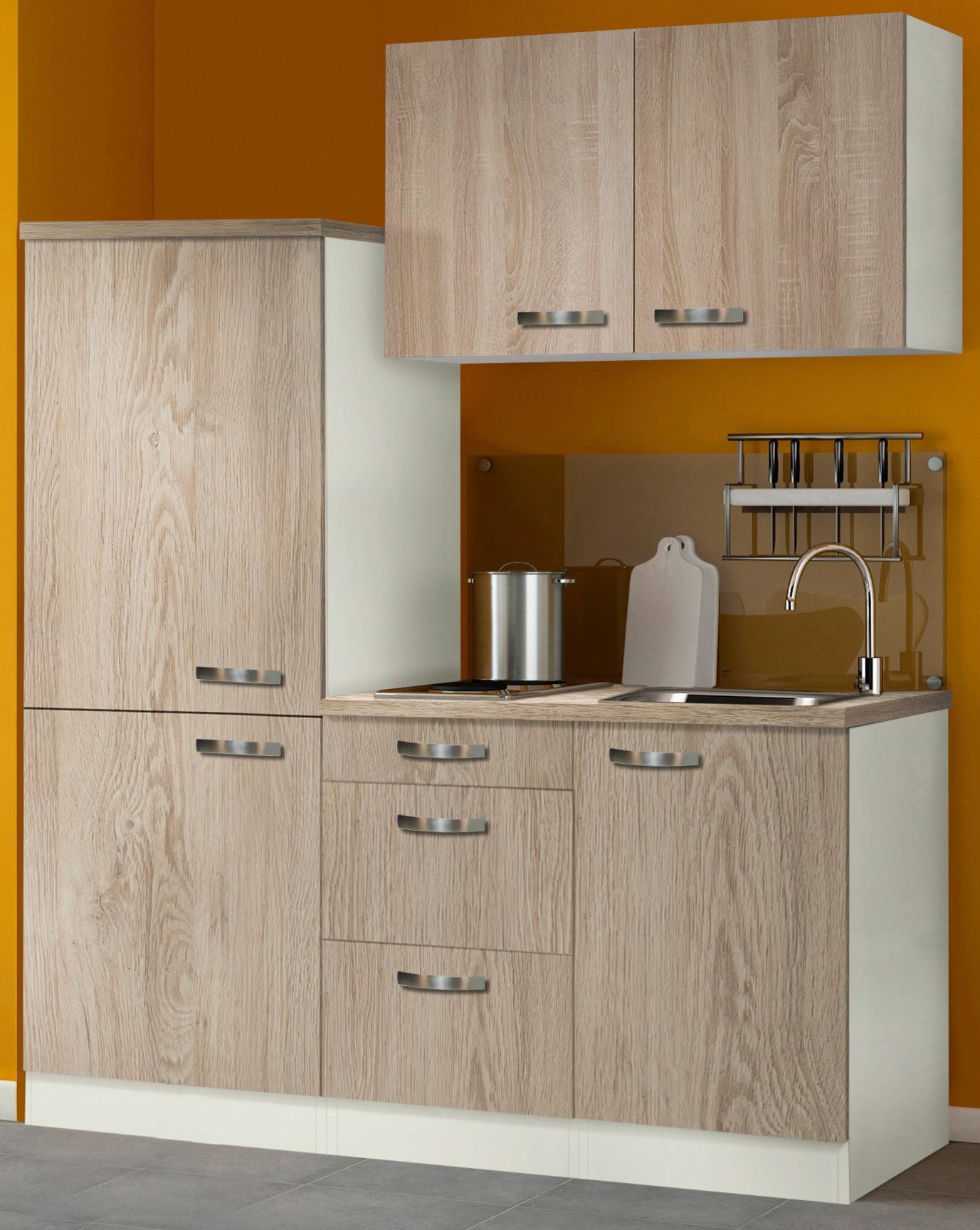 singlek che toledo mit elektro kochfeld breite 160 cm. Black Bedroom Furniture Sets. Home Design Ideas