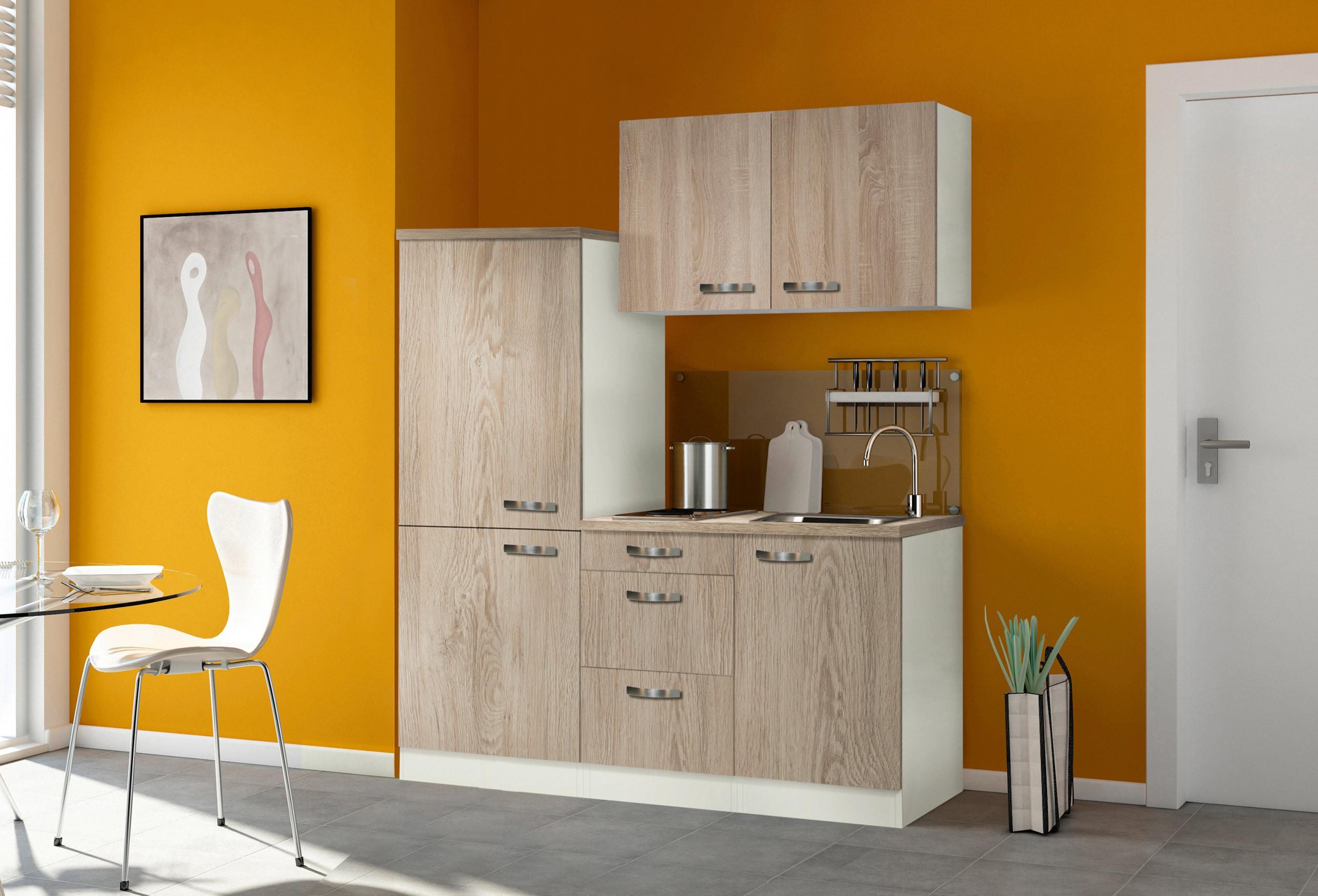 singlek che toledo mit elektro kochfeld breite 160 cm eiche k che singlek chen. Black Bedroom Furniture Sets. Home Design Ideas