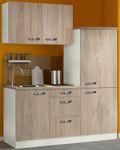 Singleküche TOLEDO - mit Glaskermik-Kochfeld - Breite 160 cm - Eiche Sägerau
