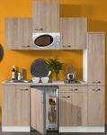 Singleküche TOLEDO - Vario 1 - mit Mikrowelle - Breite 180 cm - Eiche Sägerau