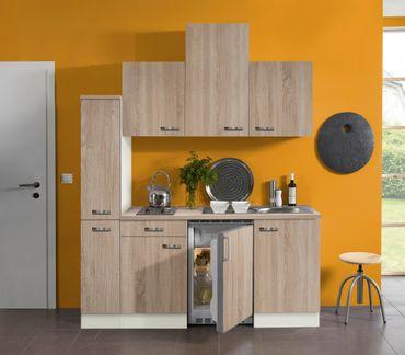 Singleküche TOLEDO - Vario 2 - mit Elektro-Kochfeld - Breite 180 cm - Eiche