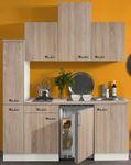 Singleküche TOLEDO - Vario 2 - Glaskeramik-Kochfeld - Breite 180 cm - Eiche
