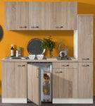 Singleküche TOLEDO - mit Elektro-Kochfeld - 9-teilig - Breite 180 cm - Eiche