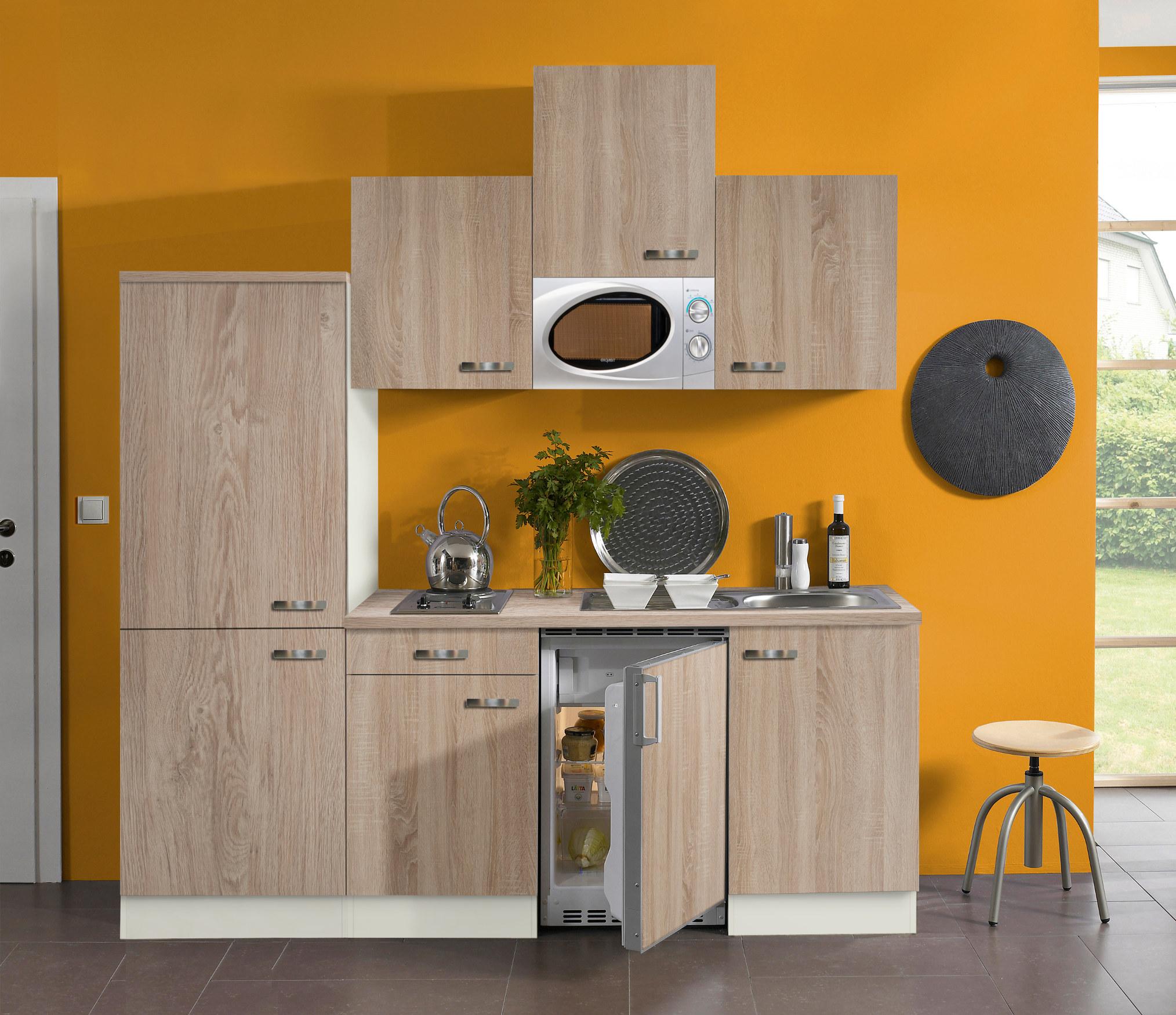 Singleküche TOLEDO - Vario 1 - mit Mikrowelle - Breite 210 cm ...