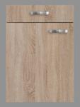 Singleküche TOLEDO - Vario 1 - mit Mikrowelle - Breite 210 cm - Eiche Sägerau