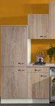 Singleküche TOLEDO - Vario 2 - Glaskeramik-Kochfeld - Breite 210 cm - Eiche
