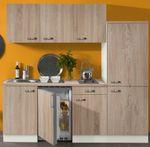 Singleküche TOLEDO - Vario 1 - Elektro - 9-teilig - Breite 210 cm - Eiche