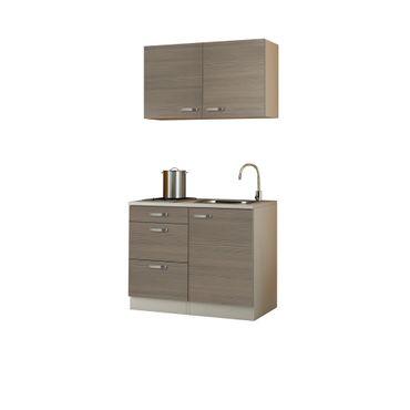 Singleküche TOLEDO - mit Glaskeramik-Kochfeld - Breite 100 cm - Pinie Nougat