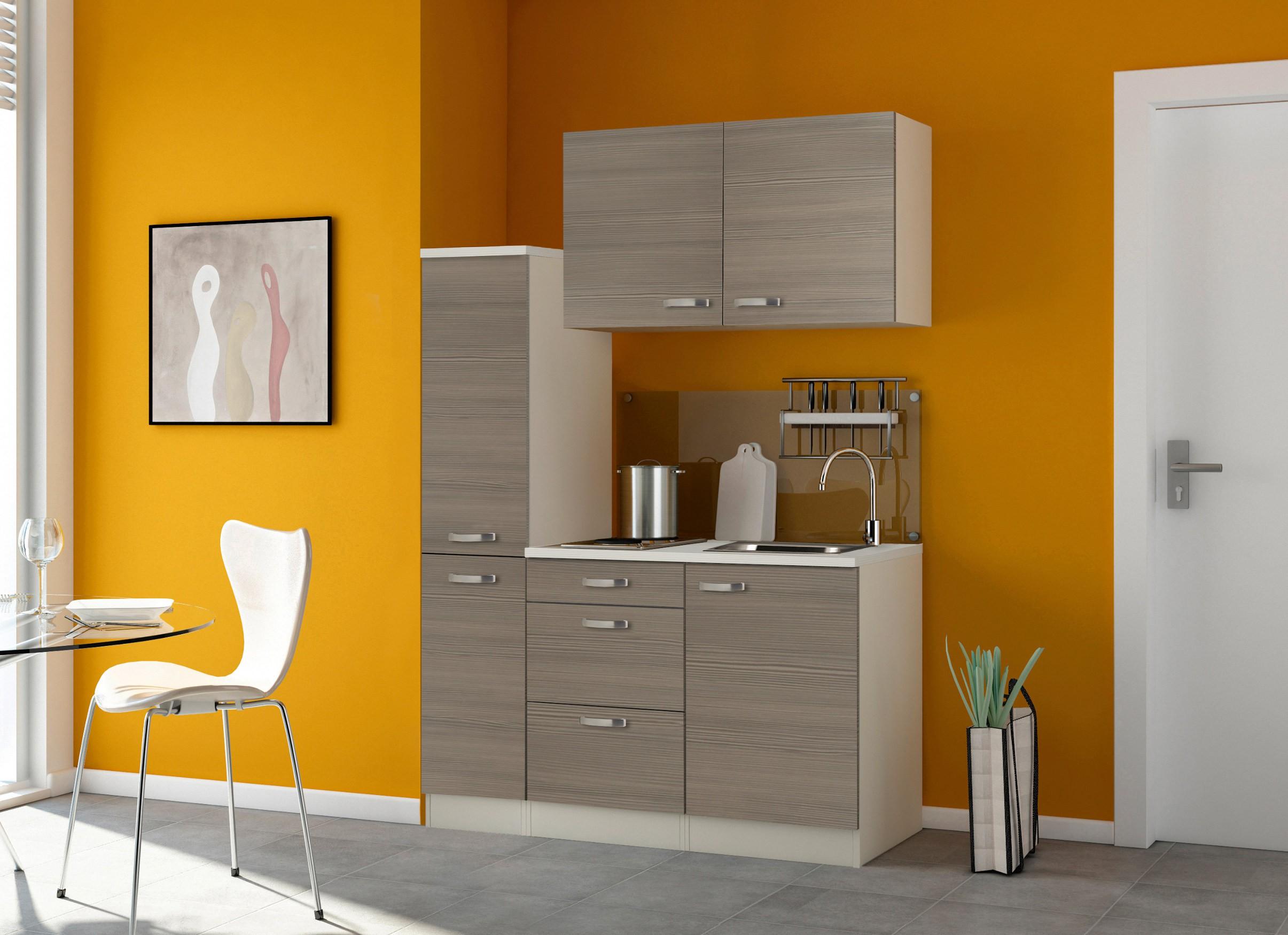 singlek che toledo mit elektro kochfeld breite 130 cm. Black Bedroom Furniture Sets. Home Design Ideas